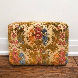 Other - Vintage Velvet Floral Throw Pillow Cushion